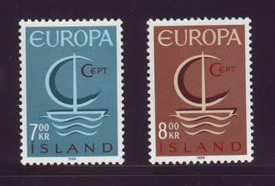 Iceland Sc 384-5 1966 Europa stamp set mint NH