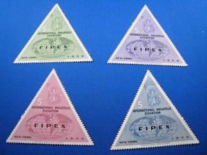U.S. 1956 5th INTERNATIONAL PHILATELIC EXHIBITION (FIPEX) - SET OF 4   MLH
