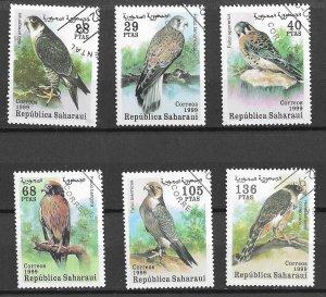 Sahara Used Set Of 6 Birds Of Prey