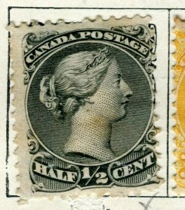 CANADA; 1870s early classic QV Small Head issue used 1/2c. value