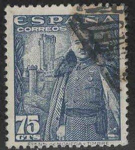 SPAIN Scott 667 Used Franco stamp