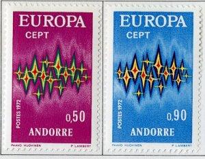 FRENCH ANDORRA 210-1 MH SCV $21.00 BIN $10.00 EUROPA