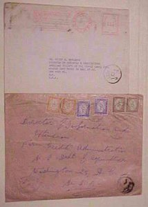 EGYPT POSTAGE DUE TIED ON 1949 ,1957 COVERS TO USA