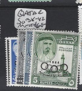 QATAR  (PP0502B)  OLYMPICS SG 38-42  MNH