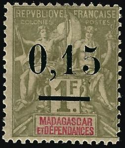 Madagascar (Scott #55) Mint OG F-VF hr...Buy before prices go up!