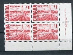 Canada  #465b  PB 4  LR  VF NH - Lakeshore Philatelics