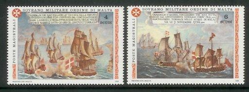 SMOM - 1989 Naval Battles Of The Order (MNH)