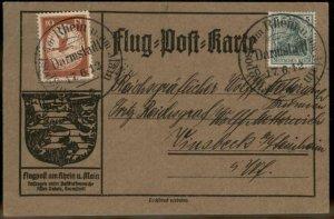 Germany 1912 Zeppelin Schwaben Si10.1.17 Darmstadt Airmail Cover Advertise 97716