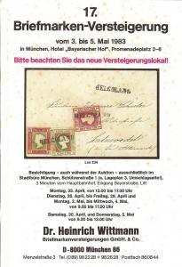 Wittman: Sale # 17  -  17. Briefmarken-Versteigerung, Wit...