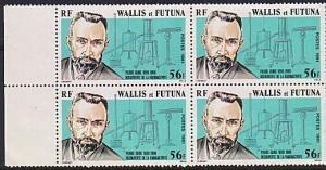 WALLIS & FUTUNA 1981 Pierre Curie block of 4 MNH...........................63601