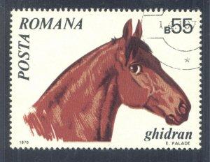 Ghidran Horse (Equus ferus caballus), 1970 Romania, Scott #2211. Free WW S/H