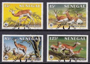 WWF Senegal # 677-680, Ndama Gazelles Used Set