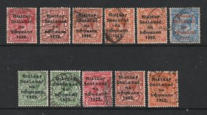 Ireland a small used lot of GB KGV with the 1922 overprint