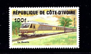 Ivory Coast 722 MNH 1984 Train         (P110)