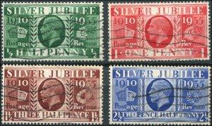 Great Britain - Scott #226-229 1935 KGV Silver Jubilee - Used