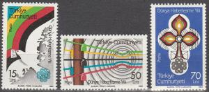 Turkey #2249-51 MNH F-VF CV $2.70 (SU3143L)
