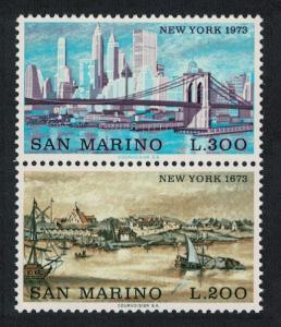 San Marino 'Interpex' Stamp Exhibition New York 2v Vertical Pair SG#960-961