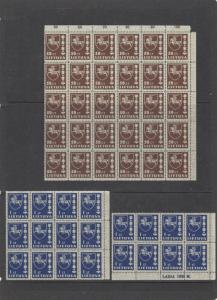 LITHUANIA 1937 UNMOUNTED MINT BLOCKS CAT £60+. REF 679