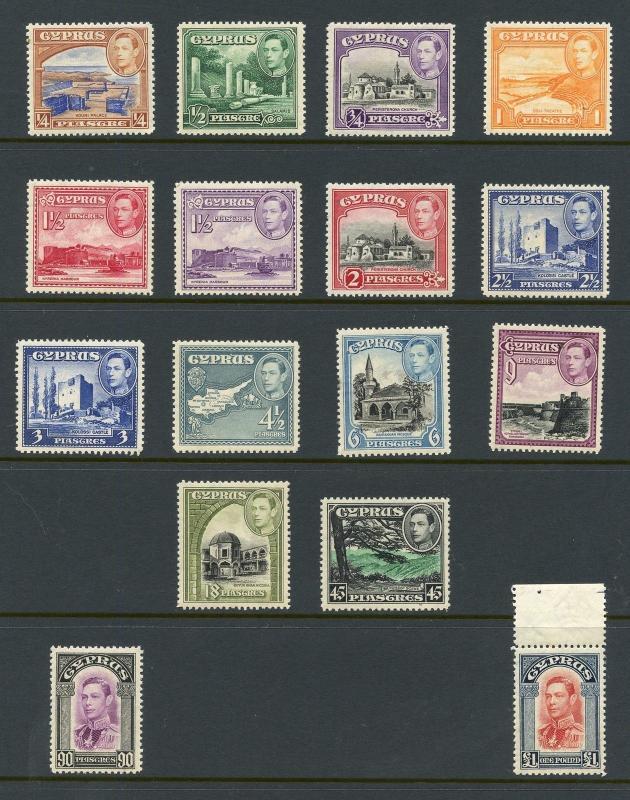CYPRUS   SCOTT #143/55   MINT NEVER HINGED--SCOTT VALUE $275.00