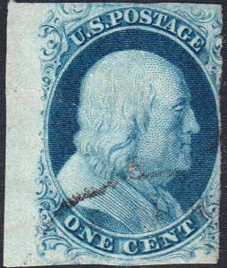 U.S. 7 Used FVF Sheet mgn Sgl. (120618)