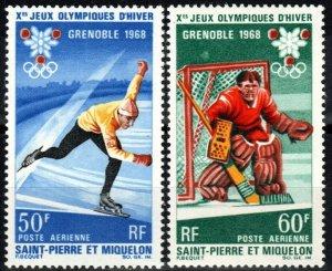 St Pierre And Miquelon #C37-8 MNH CV $20.25  (X8530)