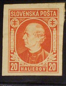 Slovakia Scott #28a unused