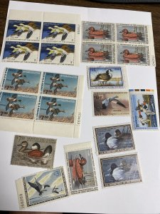 157 Dollars Face Value  Misc. Federal Duck Stamps With Small Faults