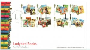 Great Britain 2017 FDC Ladybird Children Books Sc# 3648-55 se tenant pairs