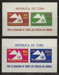 CUBA SC #  668 - 9a   C222 - 3a    MNH