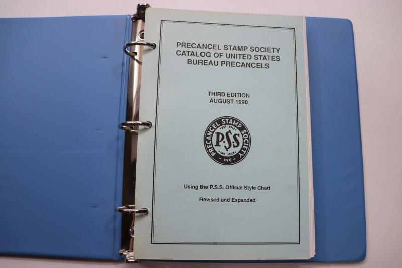 US Bureau Precancel Catalog 1990 PSS Stamp Society Illustrated 196pg Binder DC