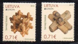 Lithuania Sc 1050-1 2015 Europa stamp set mint NH