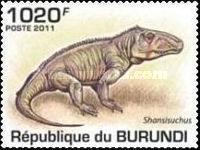 BURUNDI # 907-911 PREHISTORIC CROCODILES
