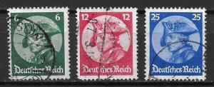 Germany 398-400 Frederick the Great set Used (z9)
