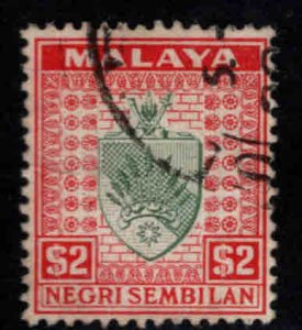 MALAYA Negri Sembilan Scott 34 Used coat of arms stamp
