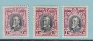 SOUTHERN RHODESIA 22, 22a & 22b MINT HINGED OG NO FAULTS EXTRA FINE