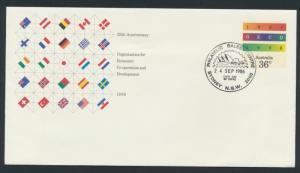 Australia PrePaid Envelope 1986 25th Anniversary  OECD Economic Development