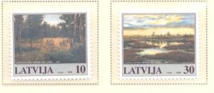 Latvia Sc 464-5 1998 Nature Preserves stamp set mint NH
