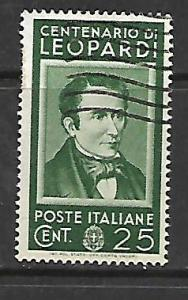 ITALY  389   USED COUNT GIACOMO 1937