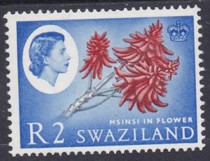 SWAZILAND 1962 QEII MSINSI FLOWER R2 MNH ** TOP VALUE