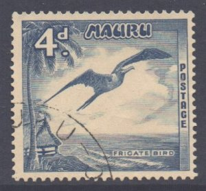 Nauru Scott 42 - SG51, 1954 Frigate Bird 4d used
