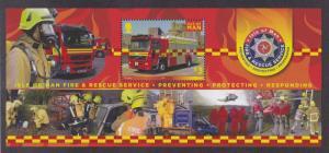 Isle of Man # 1555, Fire & Rescue Services Souvenir Sheet, NH, 1/2 Cat.