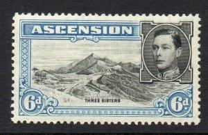 Ascension 1938 KGVI 6d perf 13½ SG 43 mint