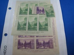 UNITED STATES - SCOTT # 750-751, 750a, 751a - MH & Used