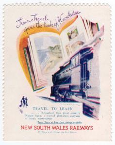 (I.B) Australia - NSW Government Railways : Promotional Label (Knowledge)