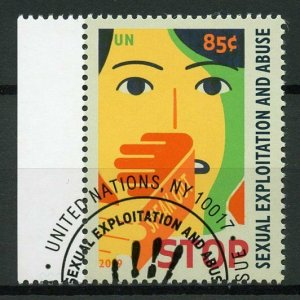 United Nations UN New York 2019 CTO Definitive Sexual Exploitation 1v Set Stamps