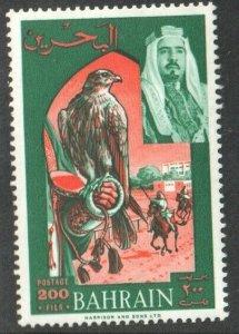 1966  BAHRAIN - S.G: 148 -  200F GREEN & ORANGE - UNMOUNTED MINT - BIRDS