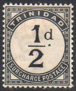 Trinidad  1885 ½d slate-black 'Postage Due' MH
