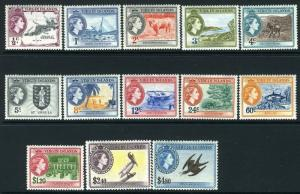BRITISH VIRGIN ISLANDS-1956-62 Set to $4.80 Sg 149-161 LIGHTLY MOUNTED MINT