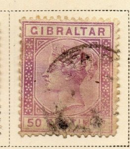 Gibraltar 1889 Early Issue Fine Used 50c. 326911