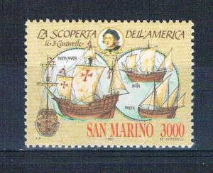 San Marino 1231 MNH Discovery of America 1991 (S0863)